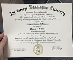 Buy Fake George Washington University (GWU) Degree Online