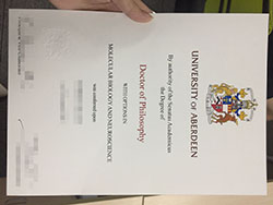 How Long to Get University of Aberdeen Fake Certificate