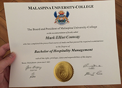 Malaspina University College Diploma Sample, Buy Fake Degree