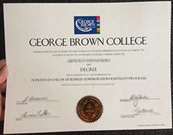 Make George Brown College fake diploma in Thailand