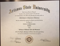 Make Arizona State University Fake Diploma in USA