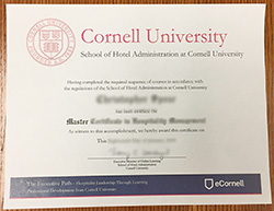 Buy Fake Cornell school of hotel administration Diploma