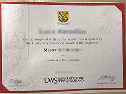 Fake University of the West of Scotland (UWS) Diploma For Sale