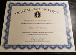 Buy Best McNeese State University Fake Diploma