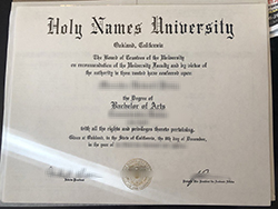 Fake Holy Names University Diploma For Sale, Buy Fake Degree