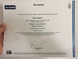 How to Buy Fake KU Leuven Diploma&Transcript?