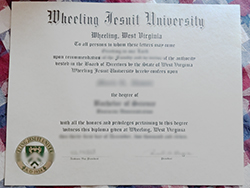 Fake Wheeling Jesuit University (WJU) Diploma Sample