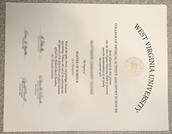 How Much For fake West Virginia University (WVU) Diploma