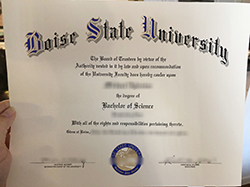 Buy Fake Boise State University Diploma&Transcript