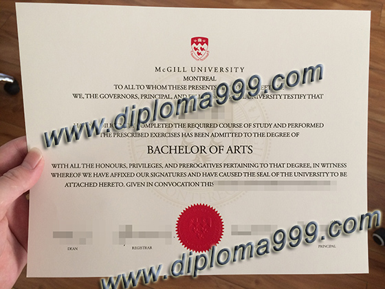 buy McGill University degree, buy fake certificate