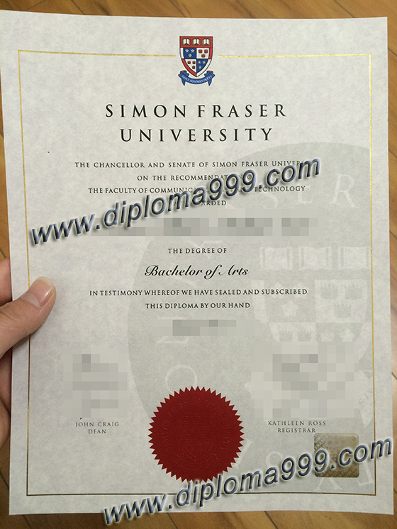 Simon Fraser University degree, buy SFU fake certificate
