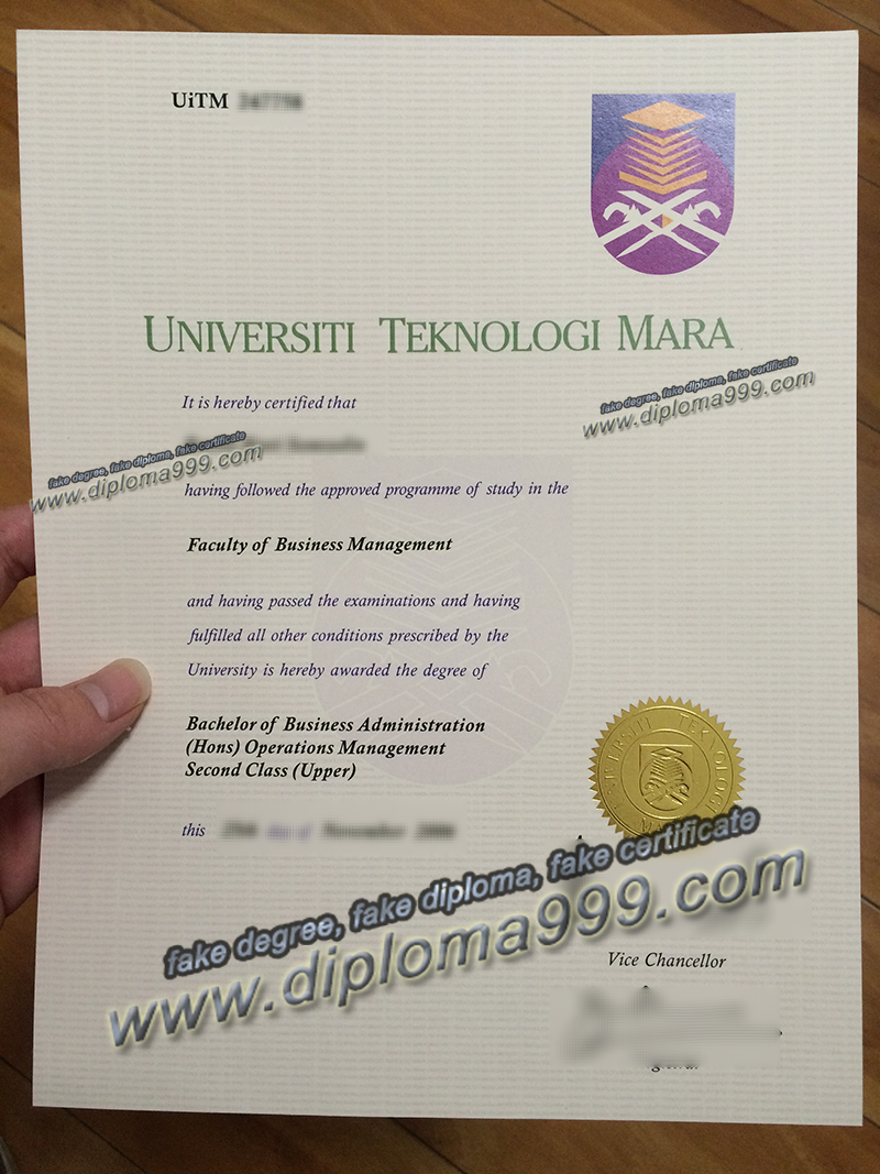 Universiti Teknologi MARA diploma sample