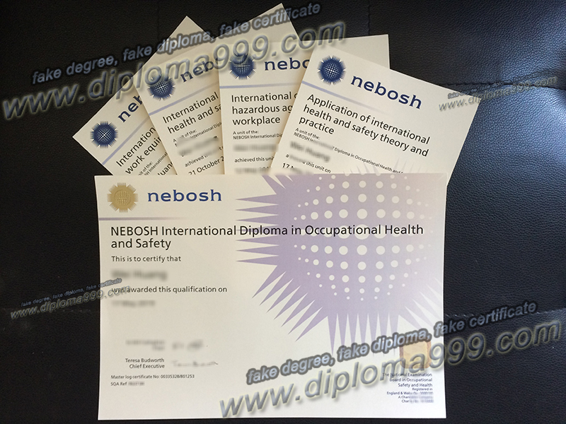 NEBOSH certificate for sale, NEBOSH certificate sample