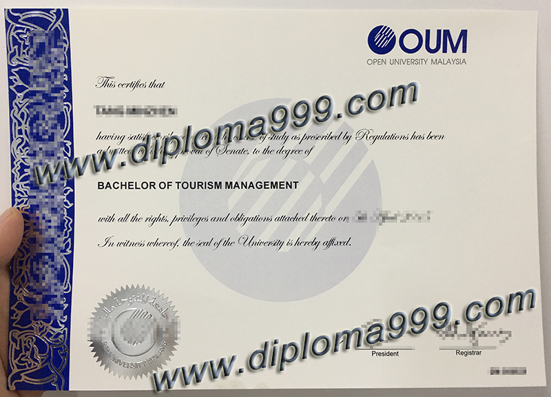 OUM degree sample, buy OUM fake diploma