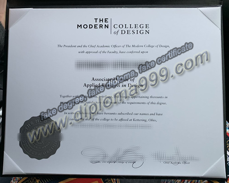 Modern College of Design diploma, fake Modern College of Design degree
