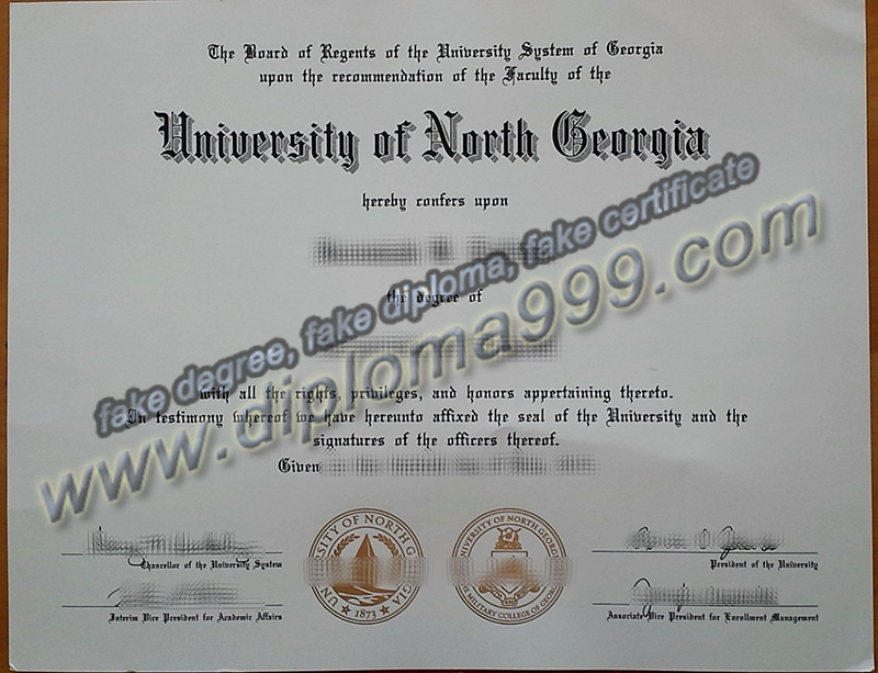 University of North Georgia diploma, fake University of North Georgia degree