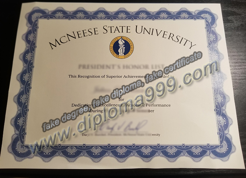 McNesse State University diploma, fake McNesse State University degree