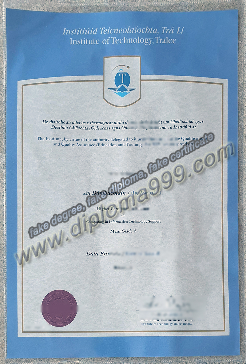 Institute of Technology, Tralee diploma, fake ITT certificate