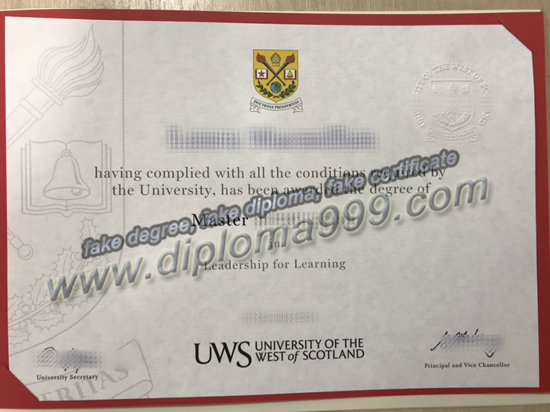 University of the West of Scotland diploma, fake University of the West of Scotland degree, buy fake diploma