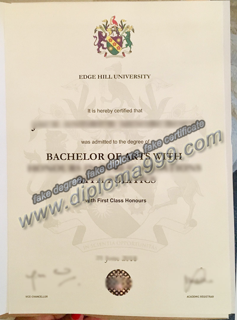 Edge Hill university diploma, Edge Hill university fake degree