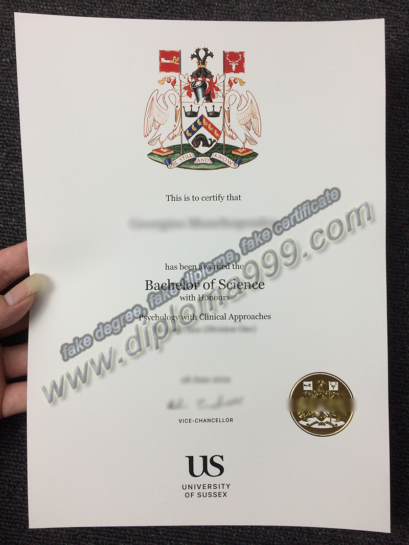 University of Sussex diploma, fake University of Sussex degree