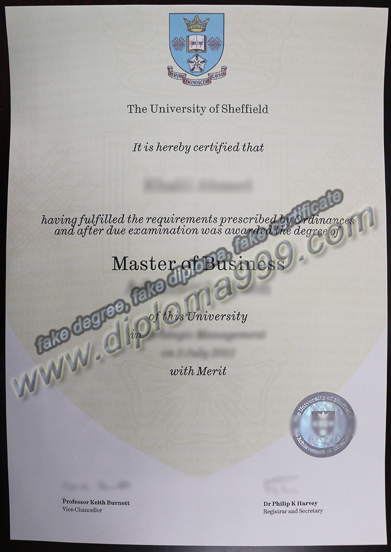 University of Sheffield diploma, fake University of Sheffield degree