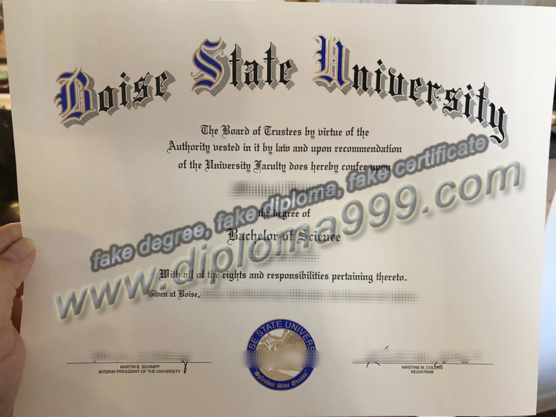 Boise State University diploma, fake Boise State University degree