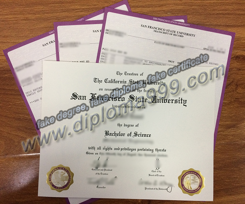 San Francisco State University diploma, SFSU degree, buy fake certificate