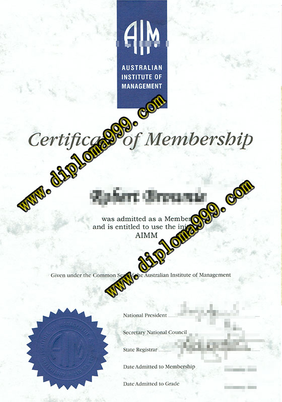 Australian Institute of Manageme certificate