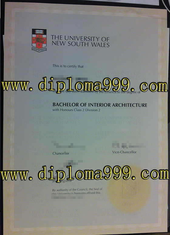 The University of New South Wales diplomat. UNSW degree and