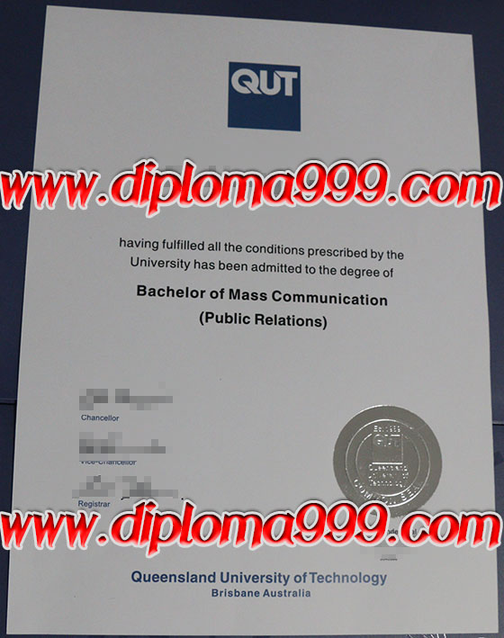 Diploma order. Queensland University of Technology diploma