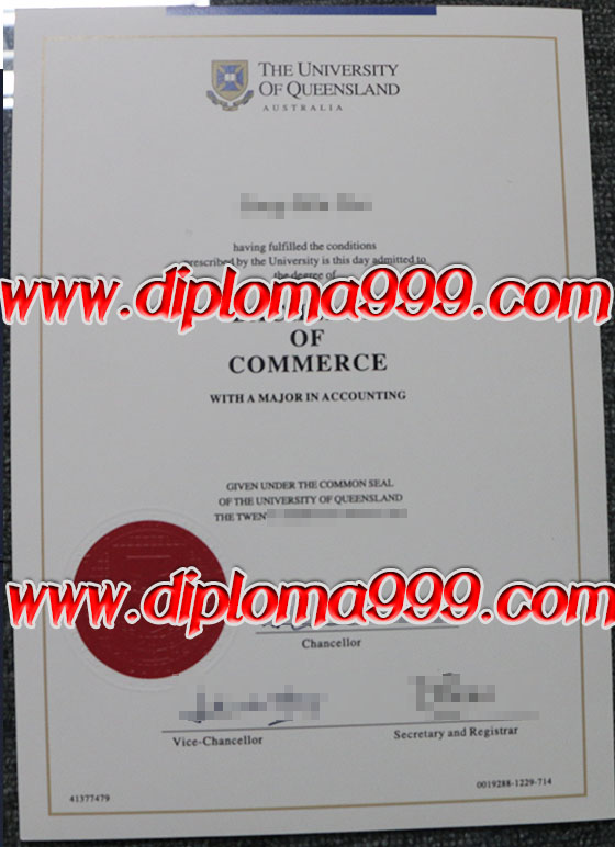 Diploma order. How to make The University of Queensland degr