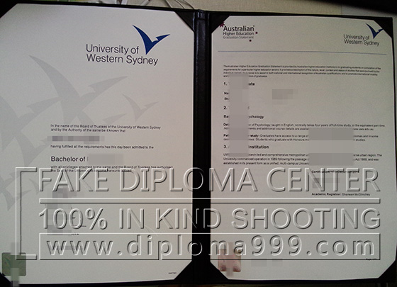 Fake certificate, Buy The University of Western Sydney diplo