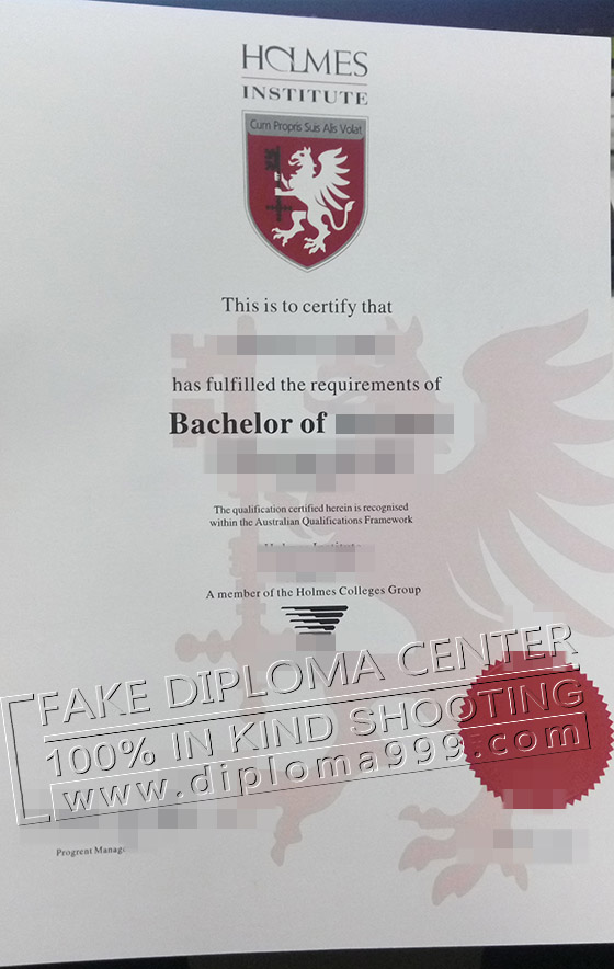 Fake certificate, Where to buy fake Holmes Institute certifi
