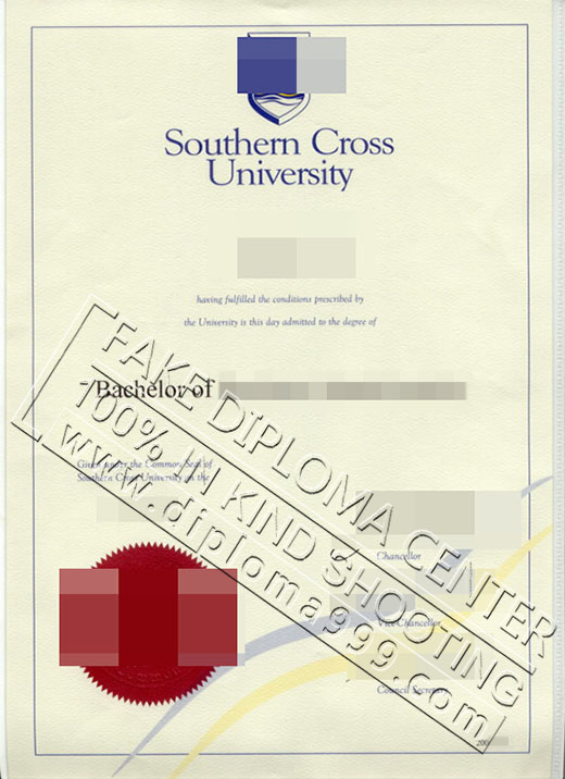 Buy fake diploma from Southern Cross University.