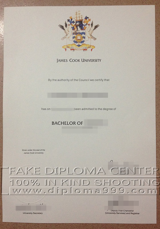 Buy fake James Cook University degree