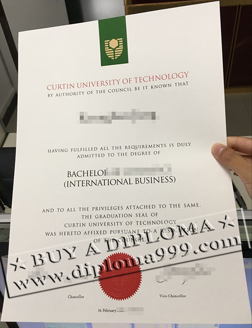 Buy a Curtin University of Technology diploma now