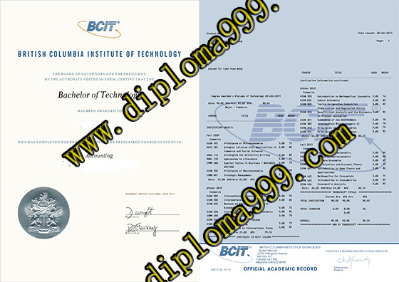 How much for BCIT degree and transcript online