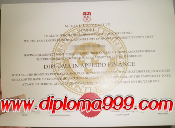 McGill University degree, make McGill University certificate