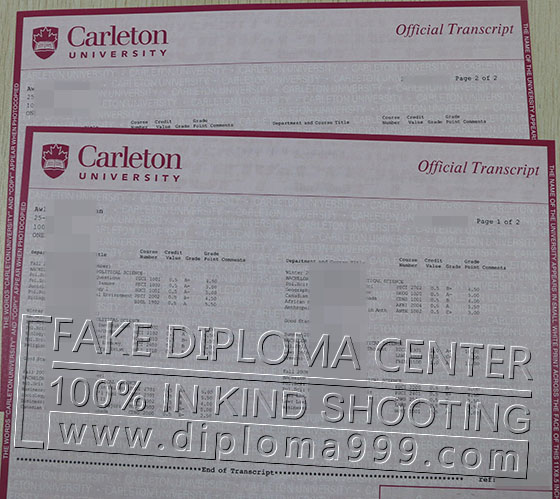 Buy fake transcript from Carleton University