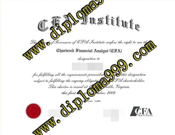 CFA Institute certificate