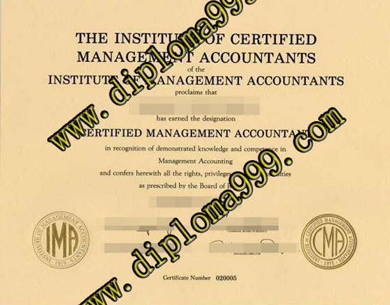 The Institute of Management Accountnats certificate