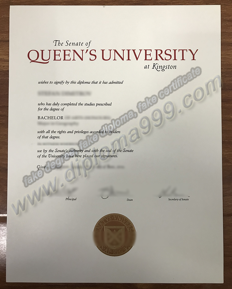 How to Buy Fake Queen's University (QU) Diploma Certificate