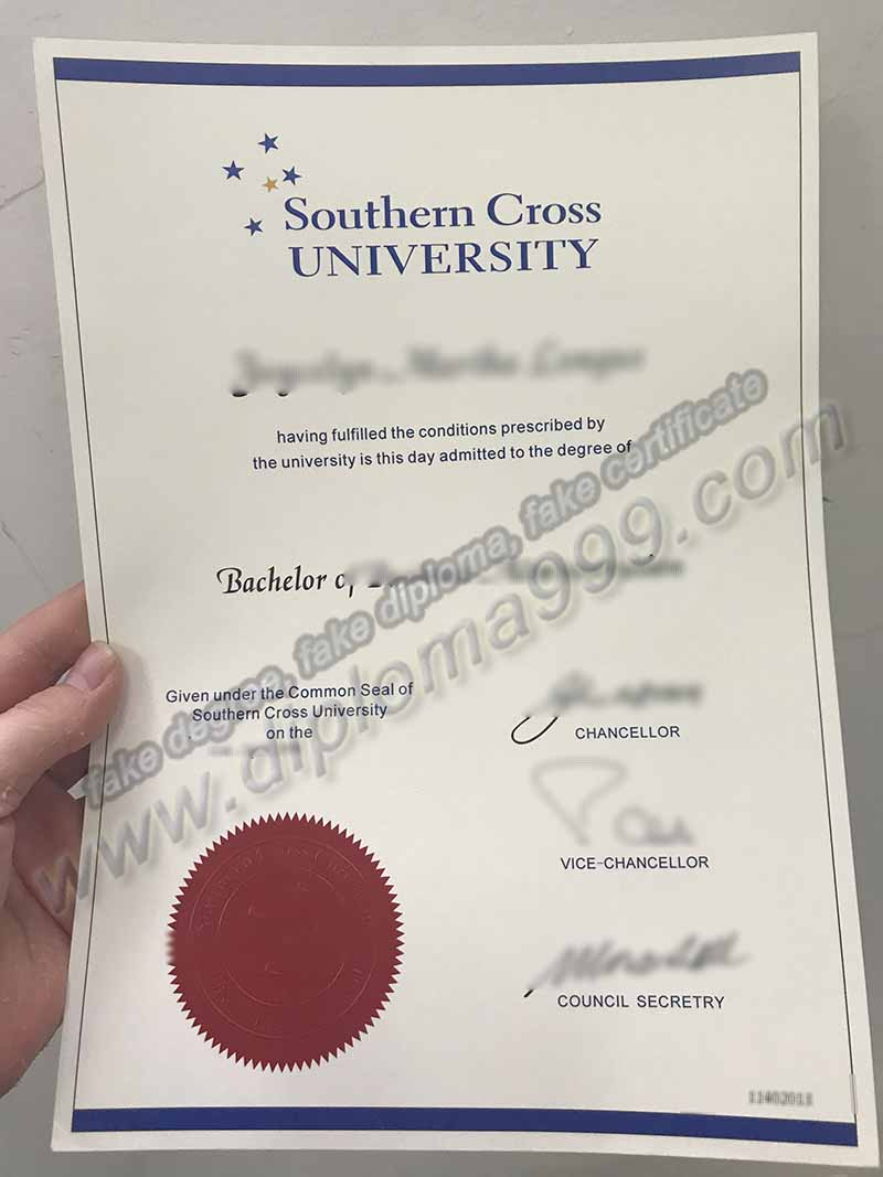 Where to Buy Southern Cross University Fake Diploma Certificate