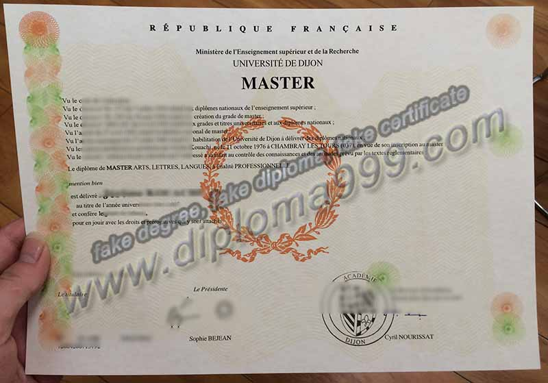 How to Buy Fake Universite de Dijon Diploma Certificate