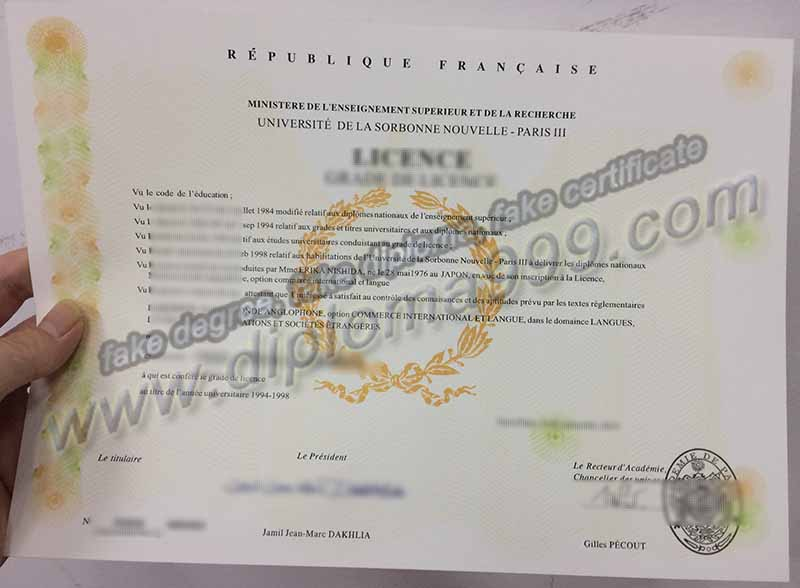 How to Buy Université Sorbonne Nouvelle-Paris 3 Diploma Certificate