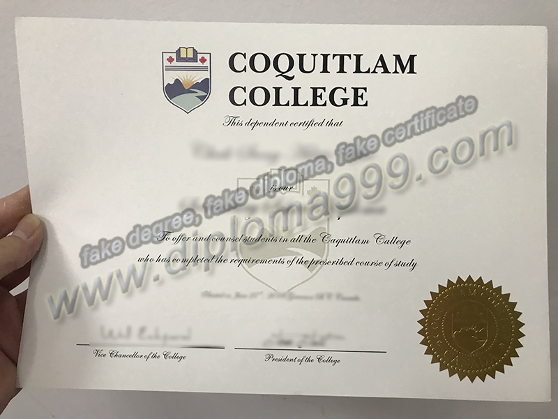 How to Buy Fake Coquitlam College Diploma Certificate