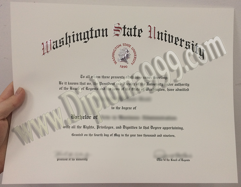 Are You Ready to Get  Washington State University (WSU) Fake Diploma Now