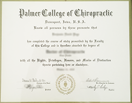 Buy Fake Palmer College of Chiropractic Diploma Certificate