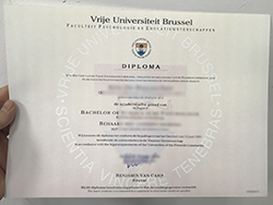 I Want to Buy Vrije Universiteit Brussel Fake Degree Certificate